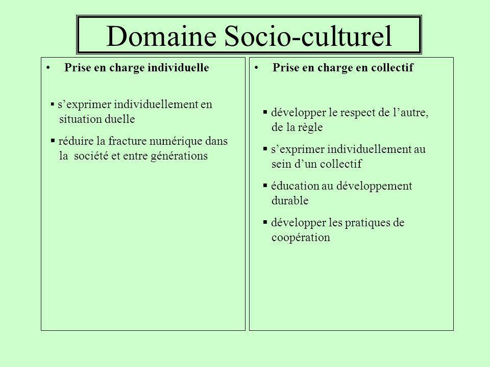 Domaine Socio-culturel