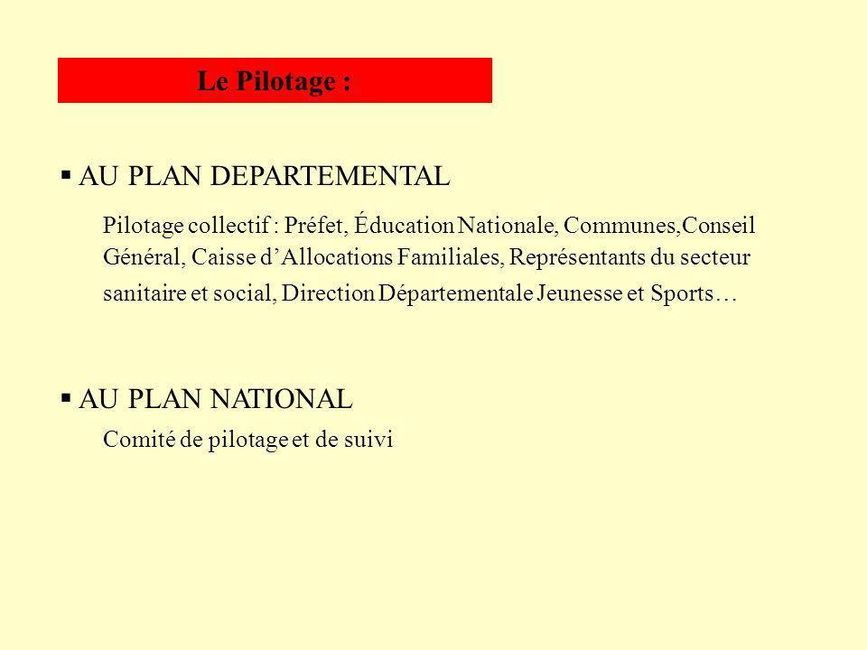 AU PLAN NATIONAL Comité de pilotage et de suivi