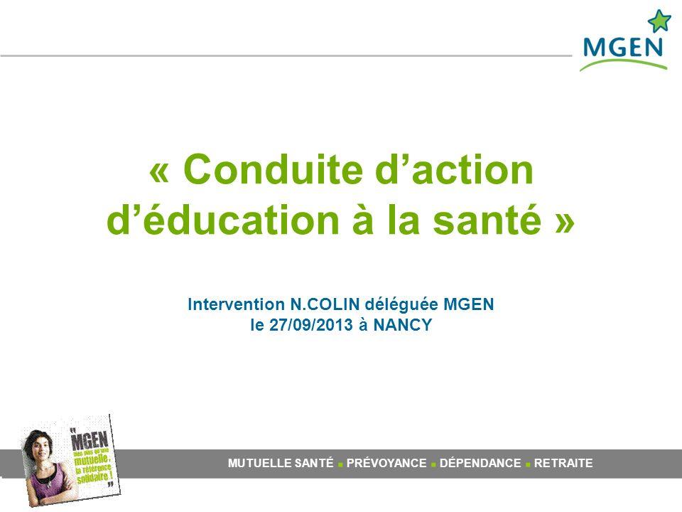 « Conduite d'action d'éducation à la santé » Intervention N