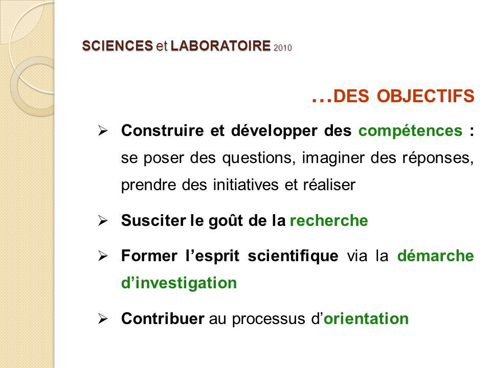 SCIENCES et LABORATOIRE 2010