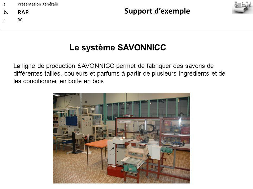 Support d'exemple Le système SAVONNICC RAP