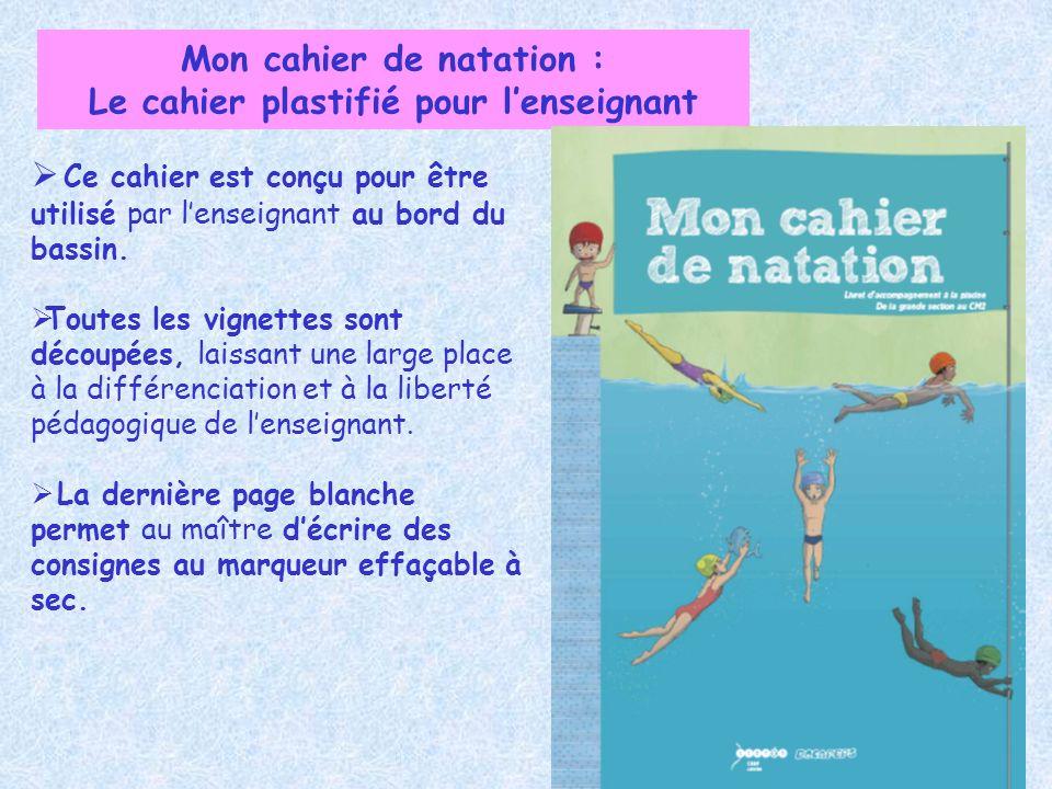 Mon cahier de natation : Le cahier plastifié pour l'enseignant