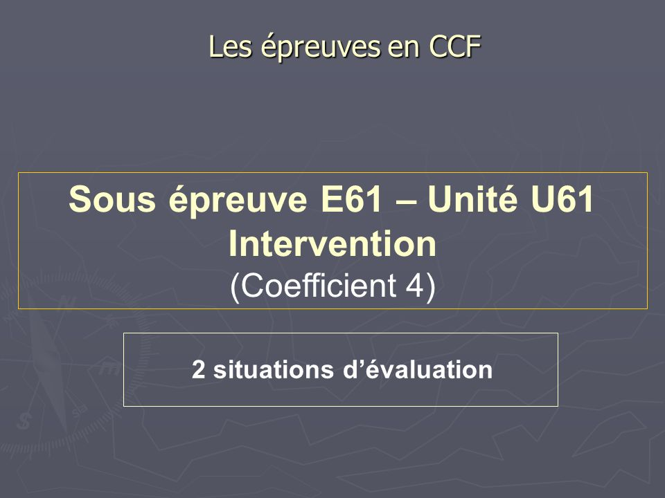 2 situations d'évaluation