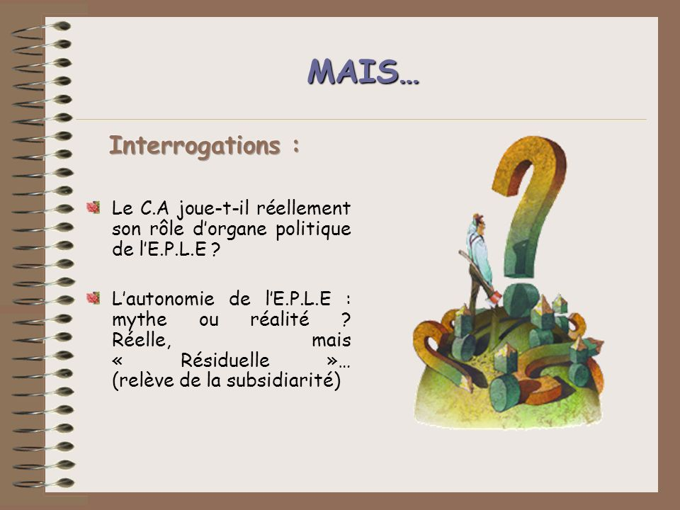 MAIS… Interrogations :