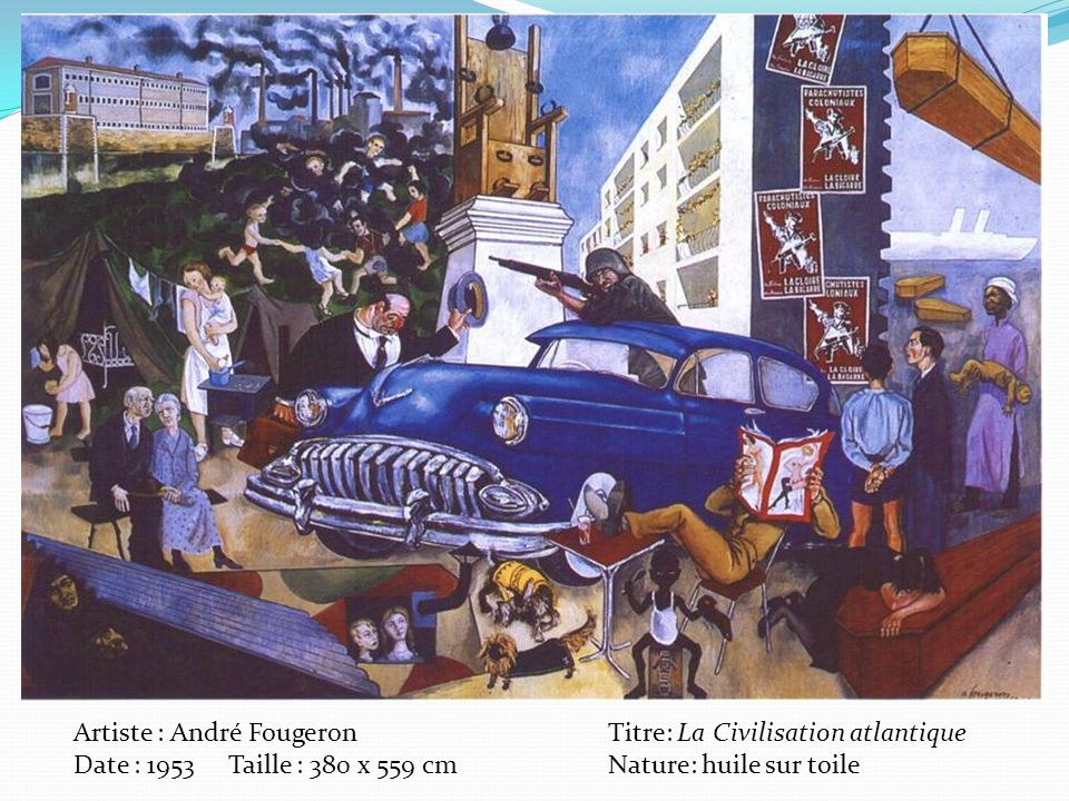Artiste : André Fougeron Titre: La Civilisation atlantique