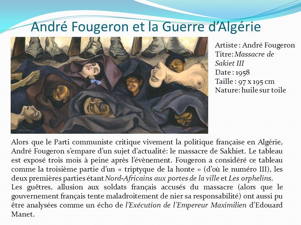 André Fougeron et la Guerre d'Algérie