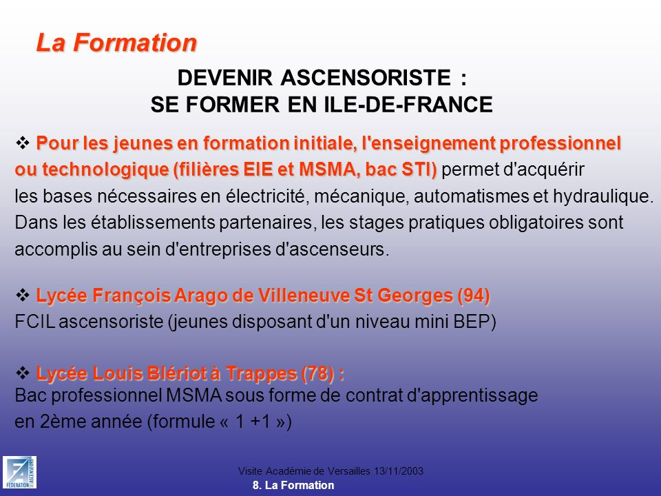 Une carri re pour demain ppt video online t l charger - Formation gardien d immeuble ile de france ...