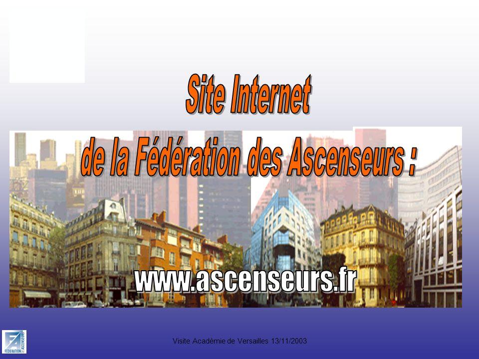 www.ascenseurs.fr Site Internet de la Fédération des Ascenseurs :