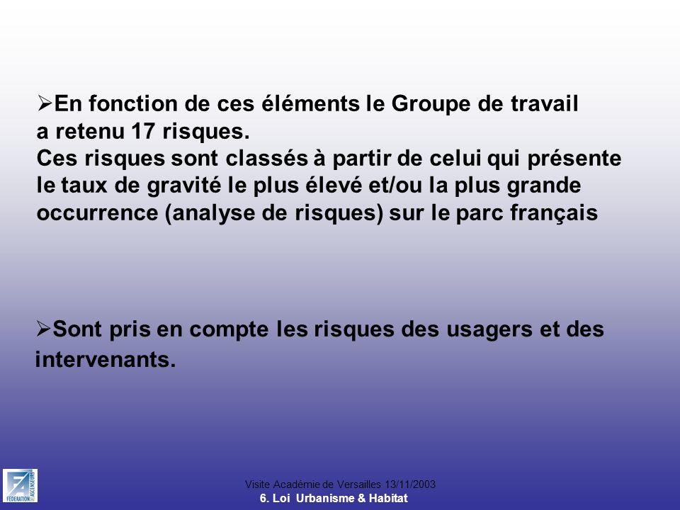 Visite Académie de Versailles 13/11/2003