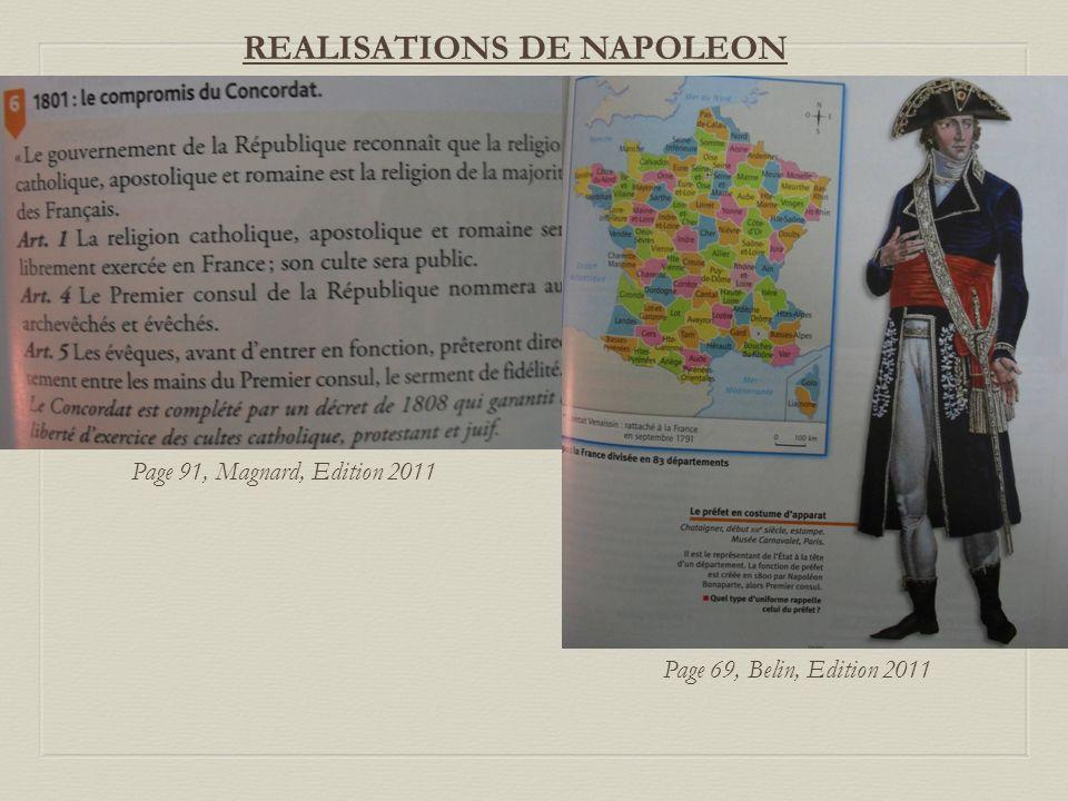 REALISATIONS DE NAPOLEON