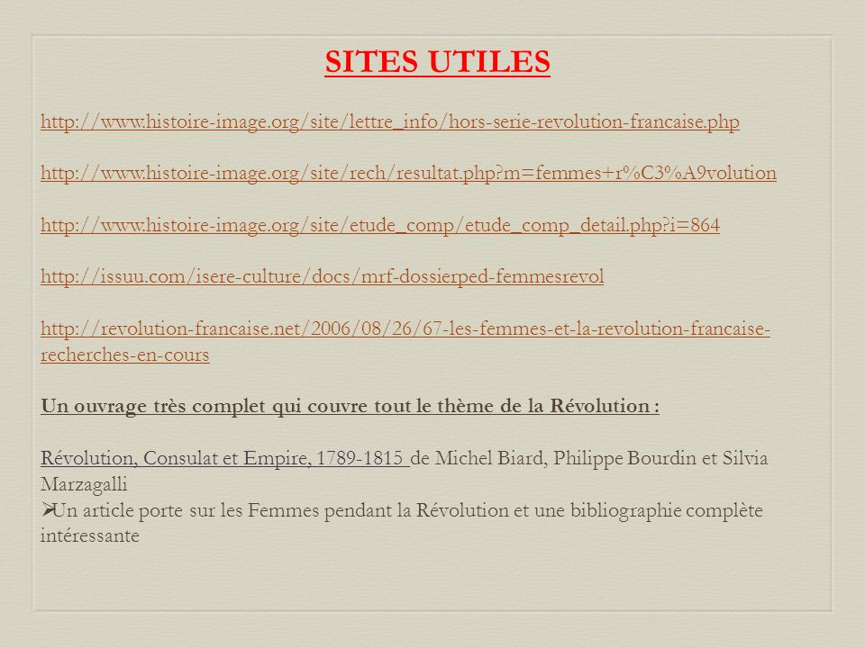 SITES UTILES http://www.histoire-image.org/site/lettre_info/hors-serie-revolution-francaise.php.