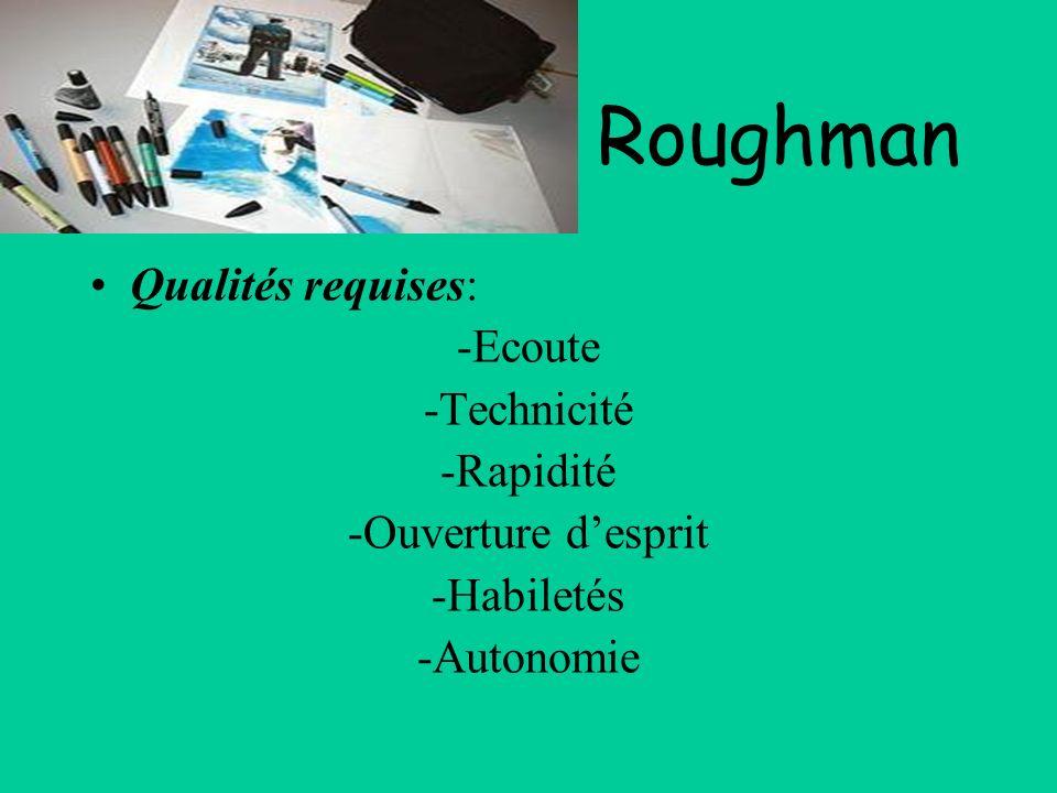 Roughman Qualités requises: -Ecoute -Technicité -Rapidité