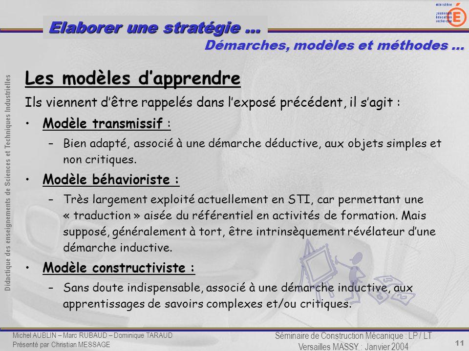 Les modèles d'apprendre