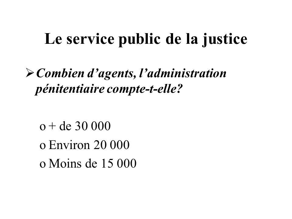 Le service public de la justice