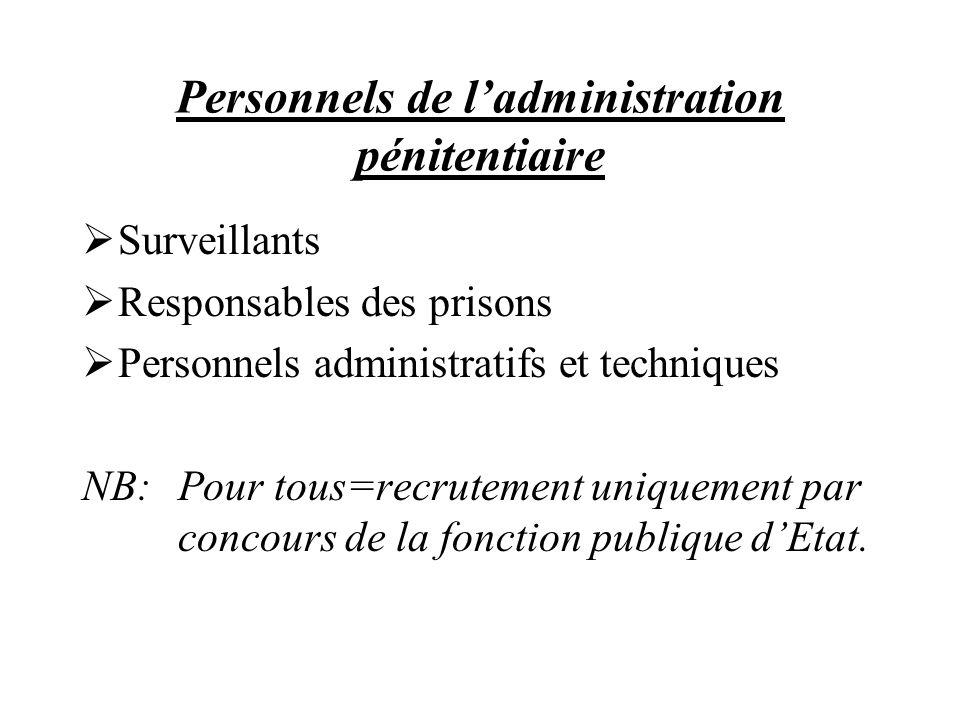 Personnels de l'administration pénitentiaire