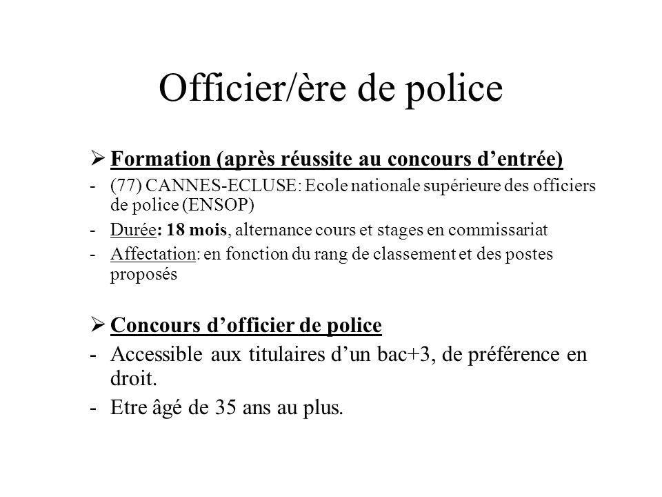 Officier/ère de police