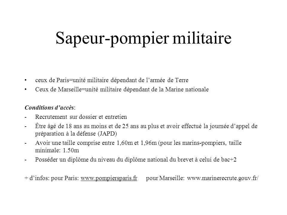 Sapeur-pompier militaire