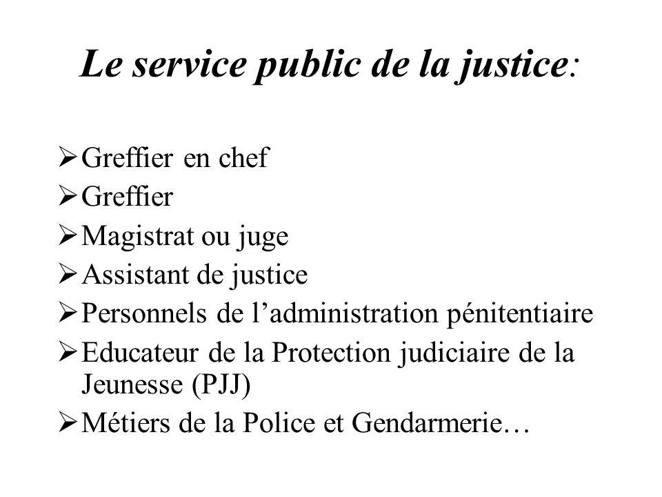 Le service public de la justice: