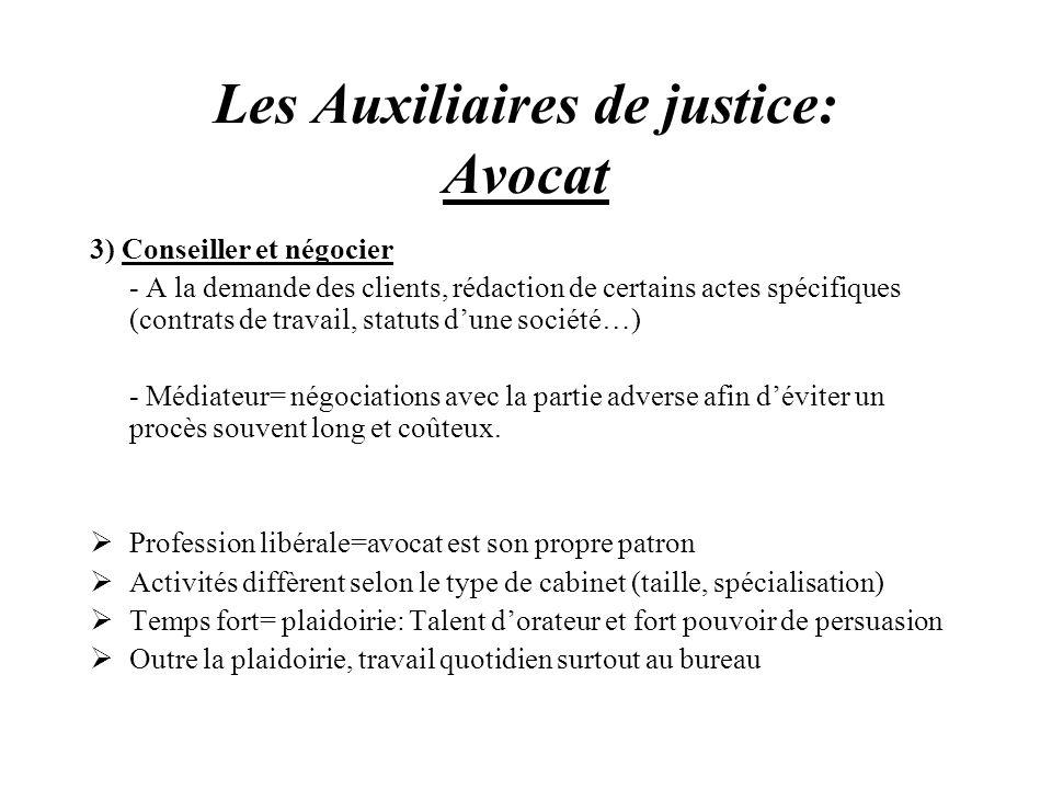 Les Auxiliaires de justice: Avocat