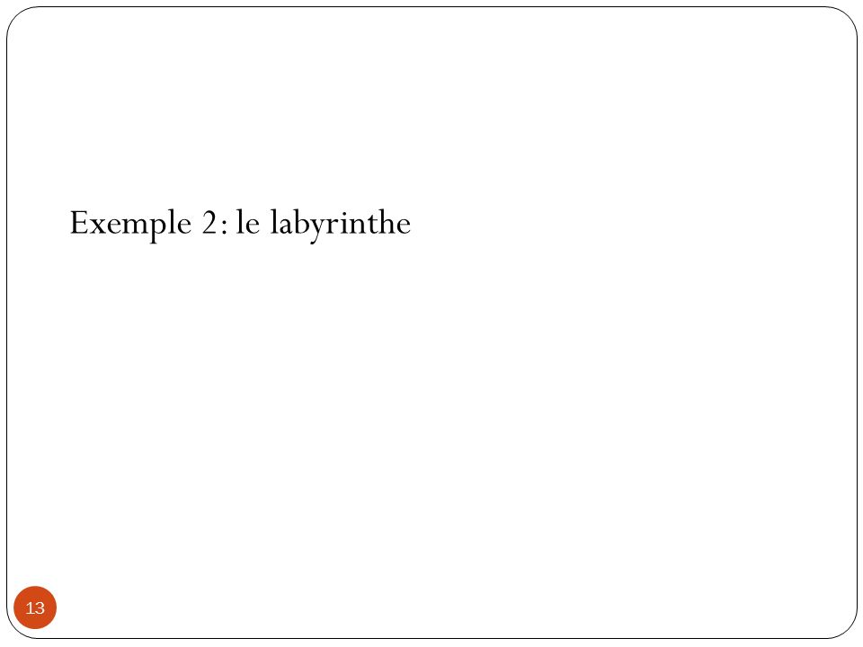 Exemple 2: le labyrinthe