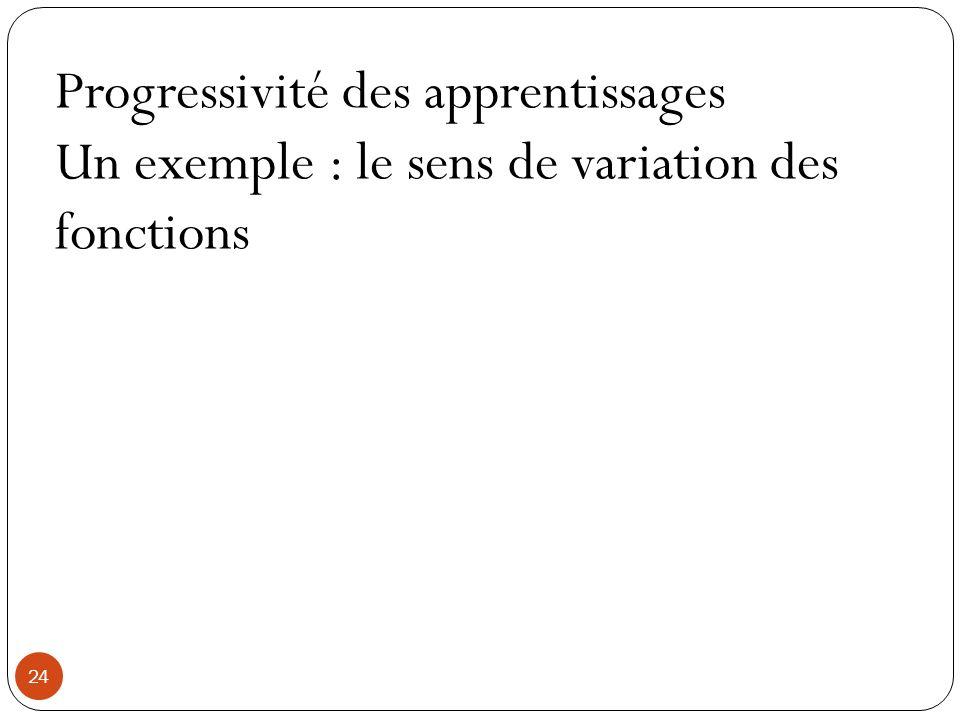 Progressivité des apprentissages
