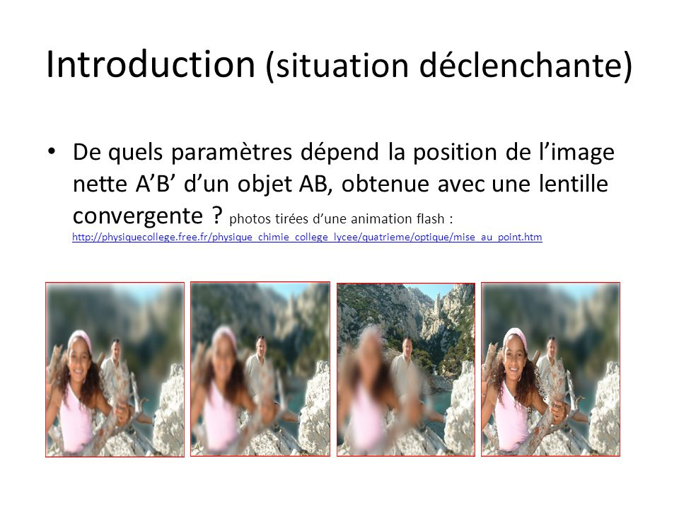 Introduction (situation déclenchante)