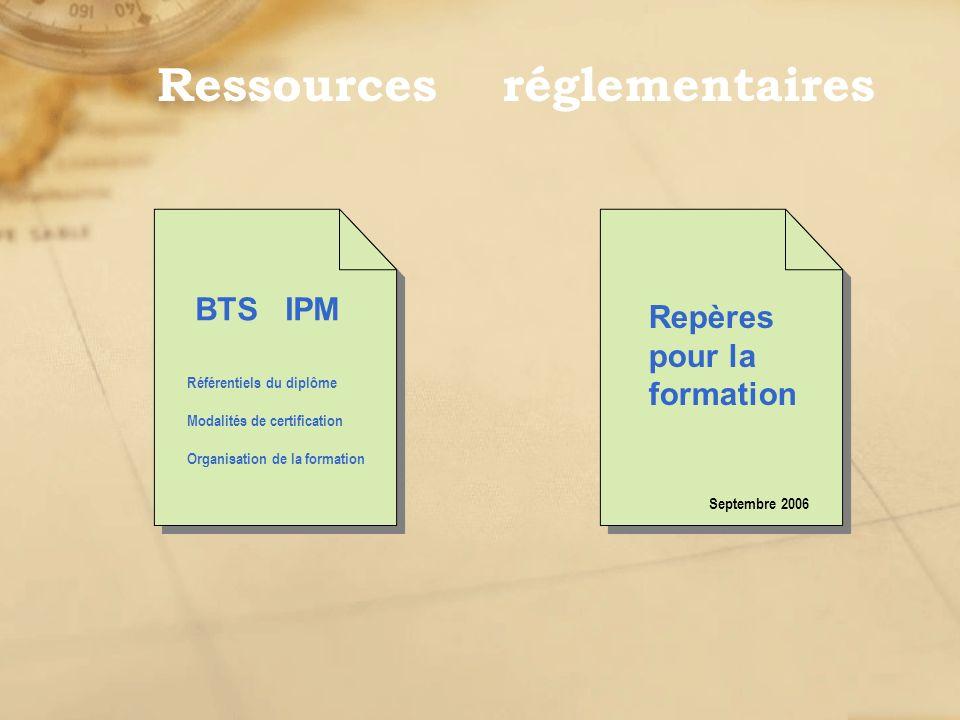 Ressources réglementaires