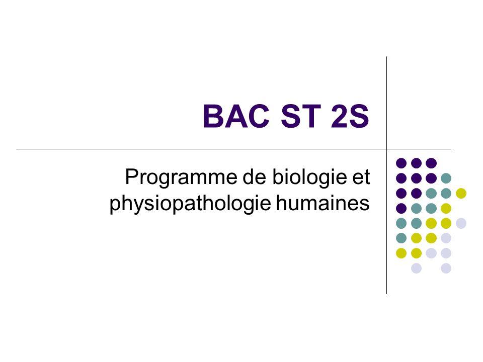 Programme de biologie et physiopathologie humaines
