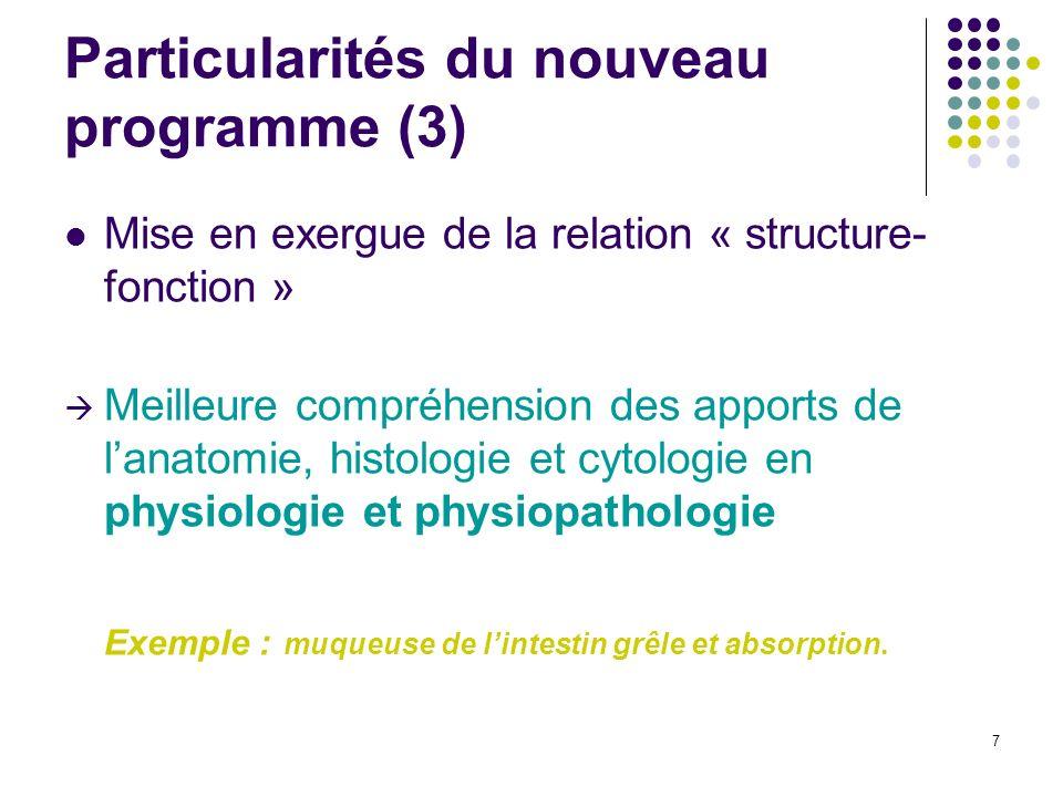 Particularités du nouveau programme (3)