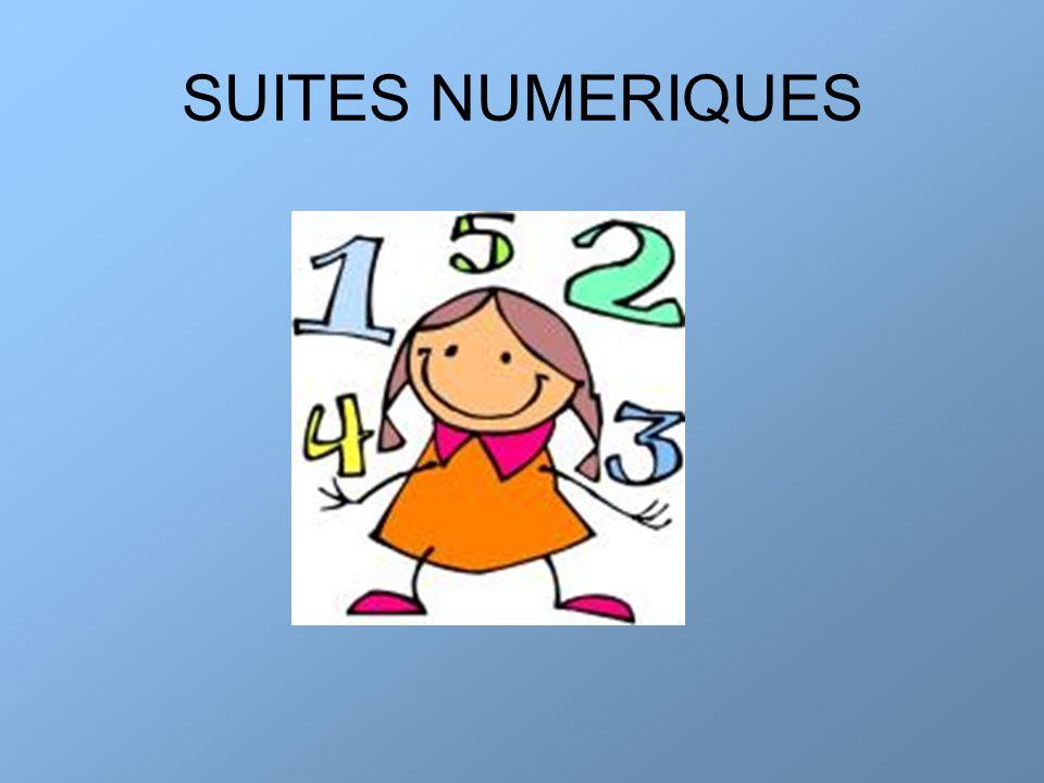 SUITES NUMERIQUES