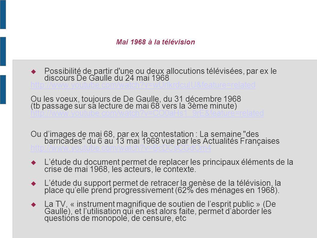 Ou les voeux, toujours de De Gaulle, du 31 décembre 1968