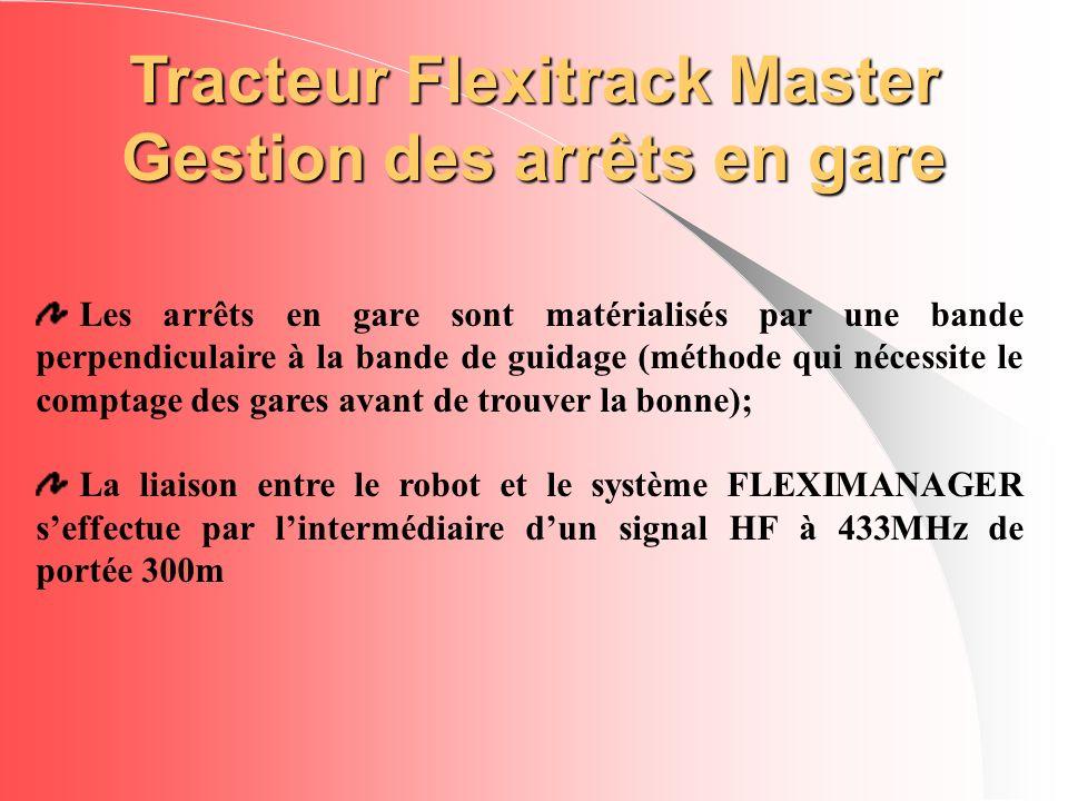 Tracteur Flexitrack Master Gestion des arrêts en gare