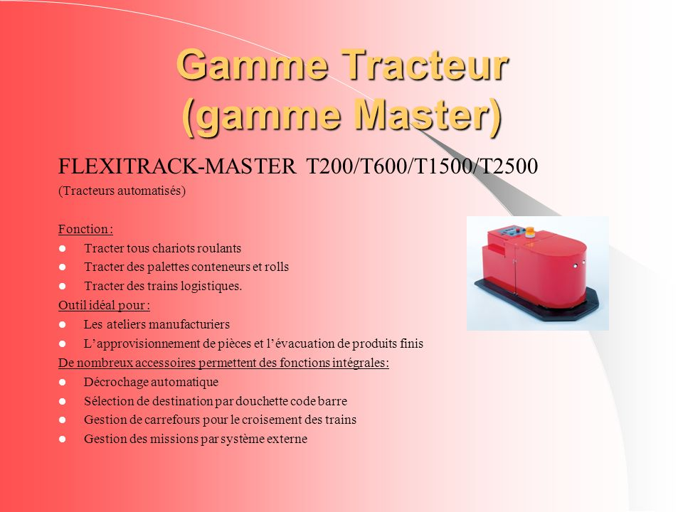 Gamme Tracteur (gamme Master)