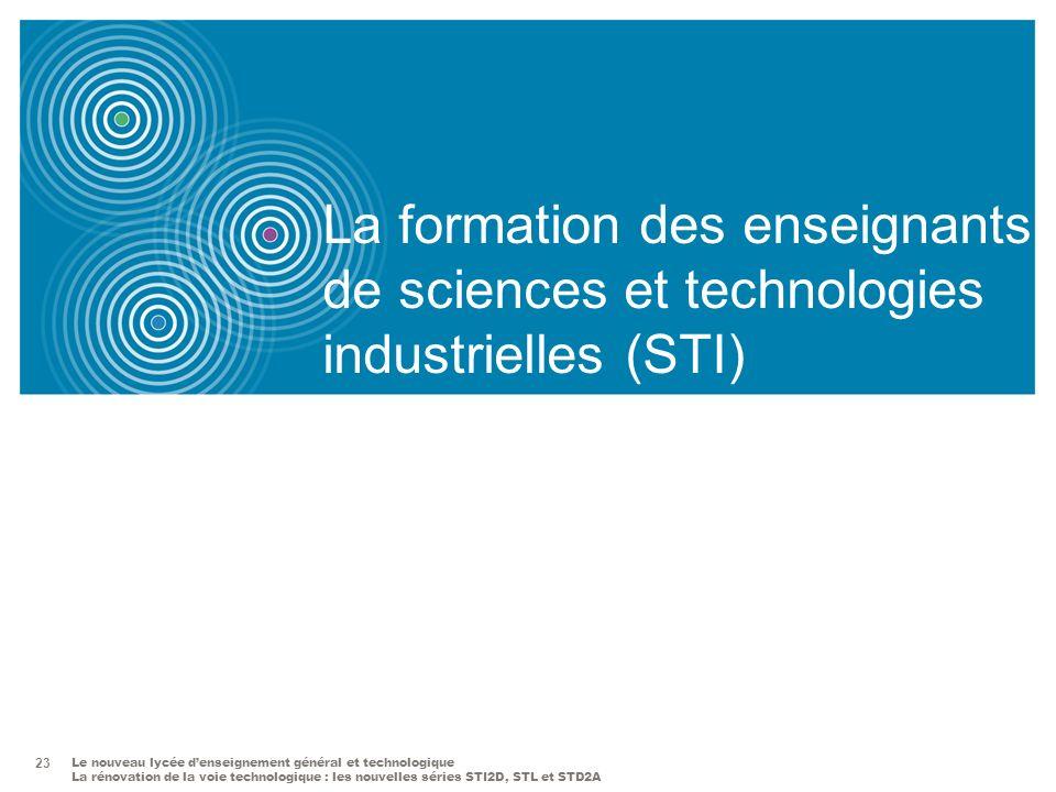 La formation des enseignants de sciences et technologies industrielles (STI)