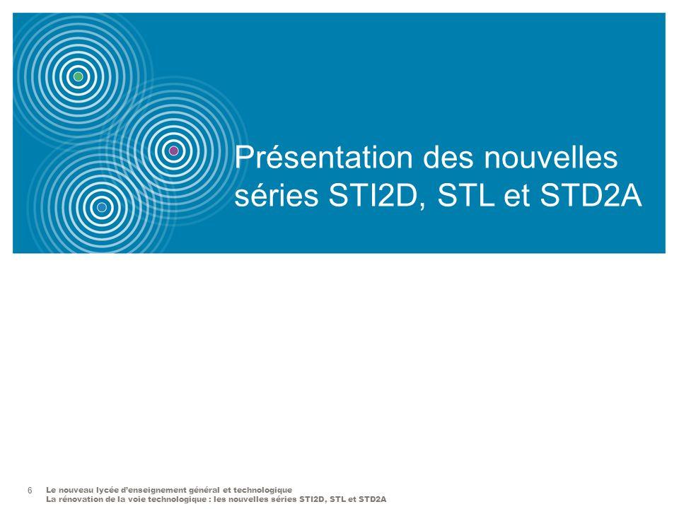 Présentation des nouvelles séries STI2D, STL et STD2A