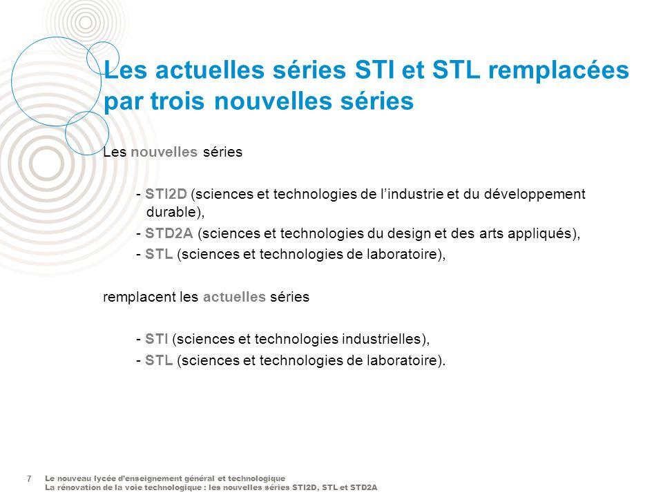 Les actuelles séries STI et STL remplacées par trois nouvelles séries