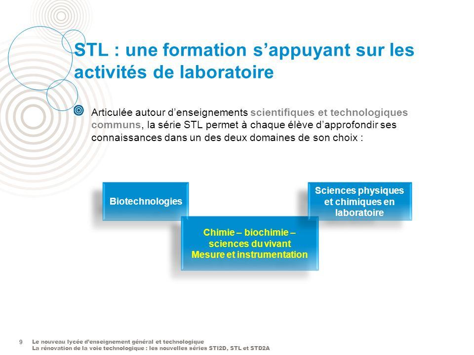 STL : une formation s'appuyant sur les activités de laboratoire
