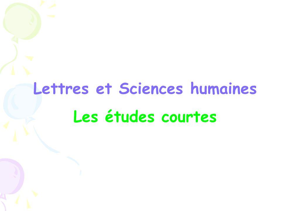 Lettres et Sciences humaines