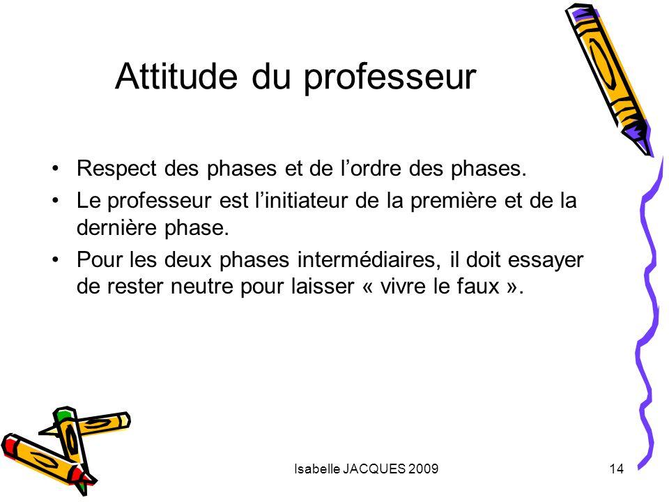Attitude du professeur