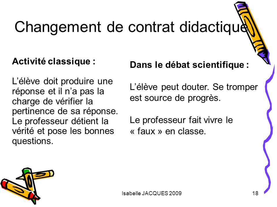 Changement de contrat didactique
