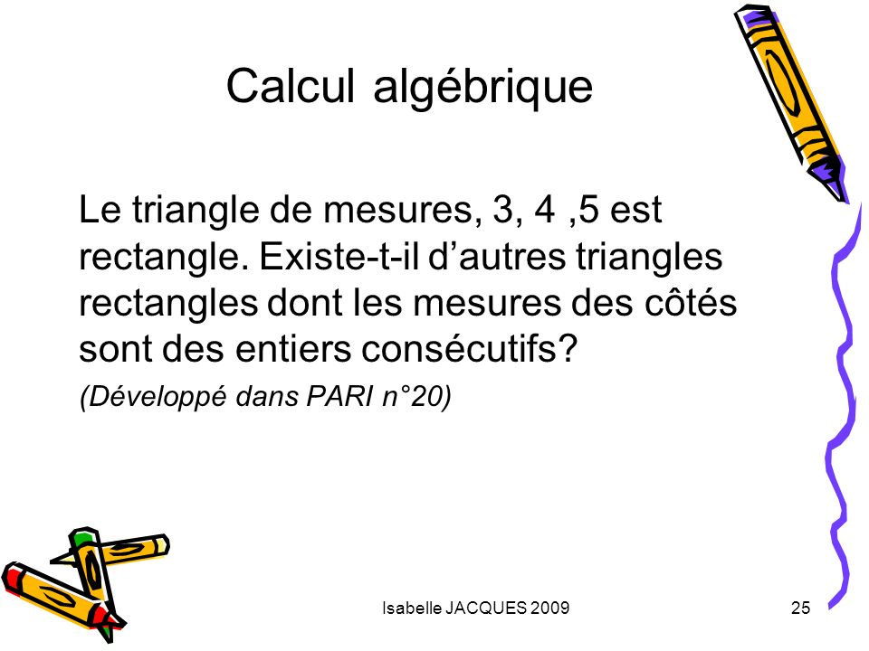 Calcul algébrique