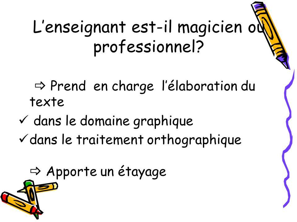 L'enseignant est-il magicien ou professionnel