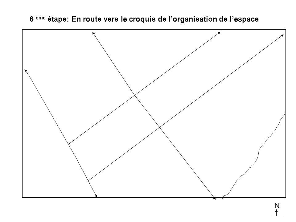 6 ème étape: En route vers le croquis de l'organisation de l'espace
