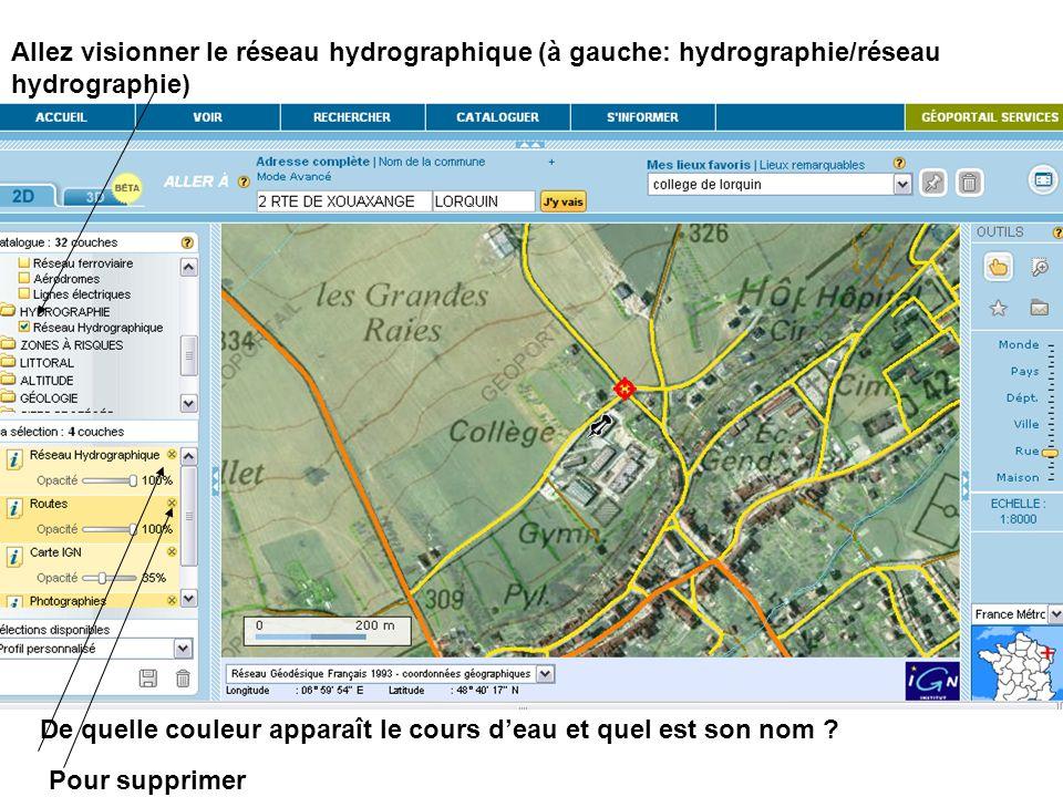 Allez visionner le réseau hydrographique (à gauche: hydrographie/réseau hydrographie)