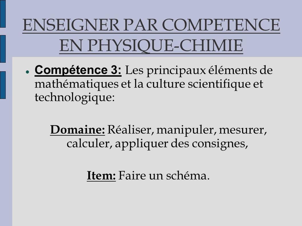 ENSEIGNER PAR COMPETENCE EN PHYSIQUE-CHIMIE