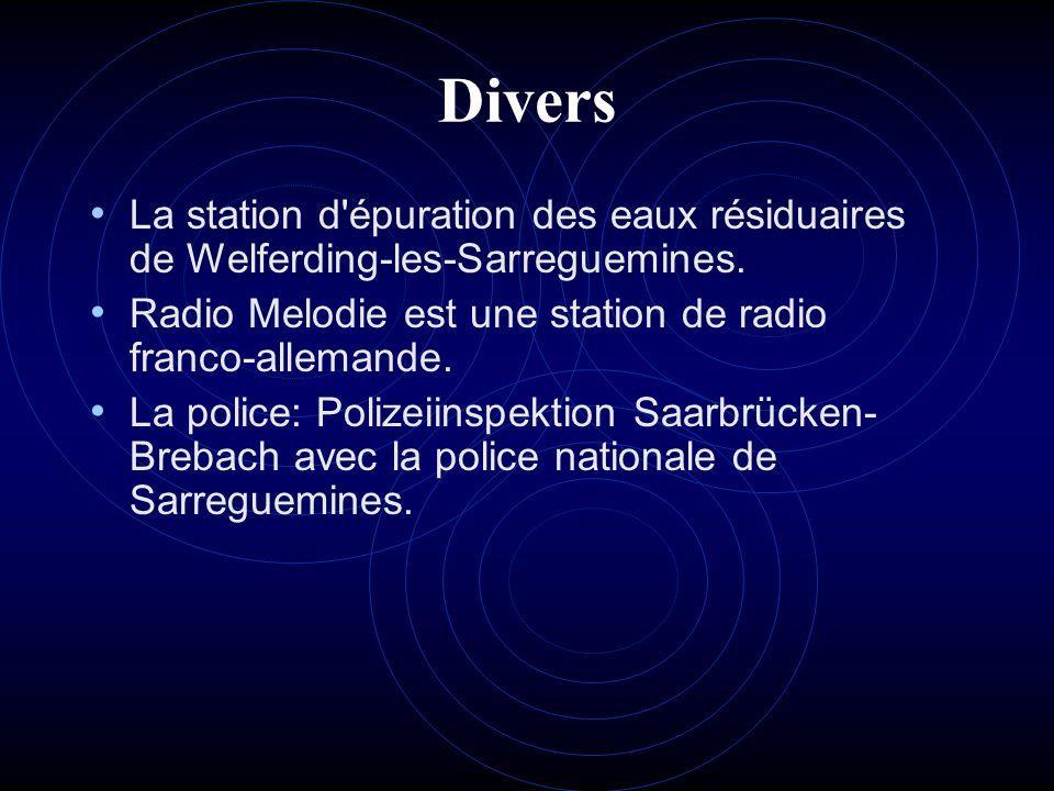 Divers La station d épuration des eaux résiduaires de Welferding-les-Sarreguemines. Radio Melodie est une station de radio franco-allemande.