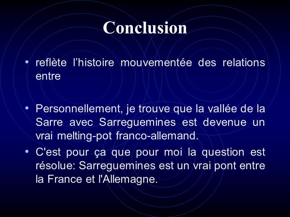 Conclusion reflète l'histoire mouvementée des relations entre