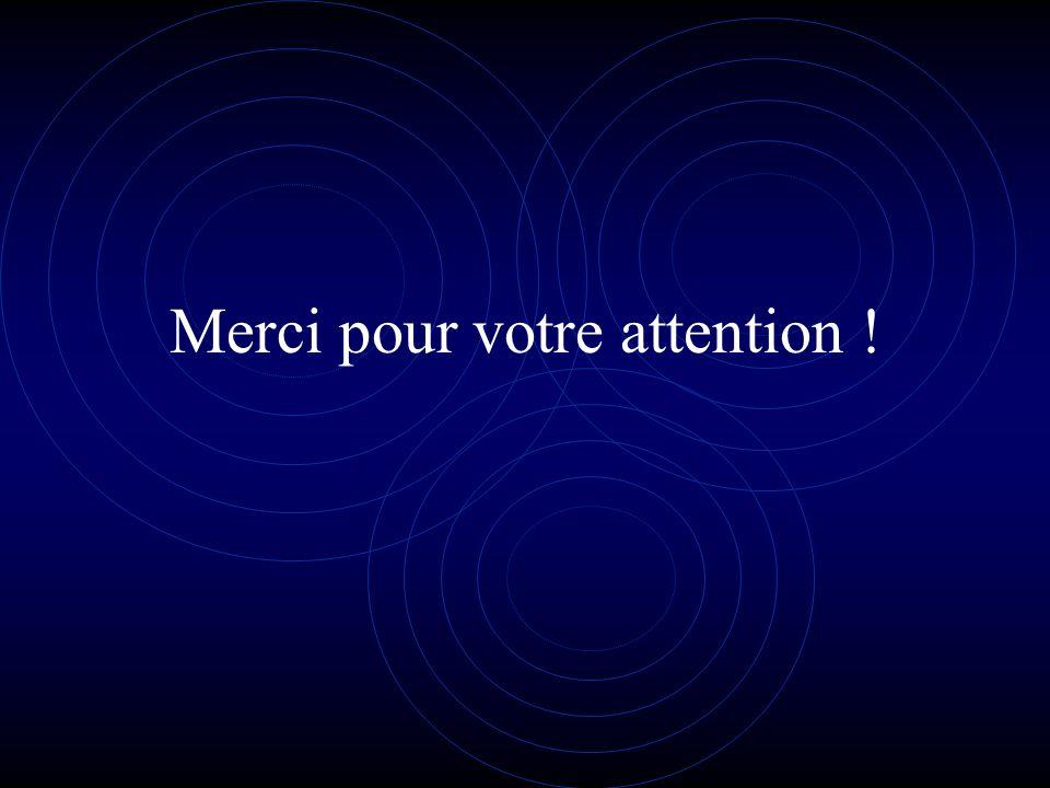 Merci pour votre attention !