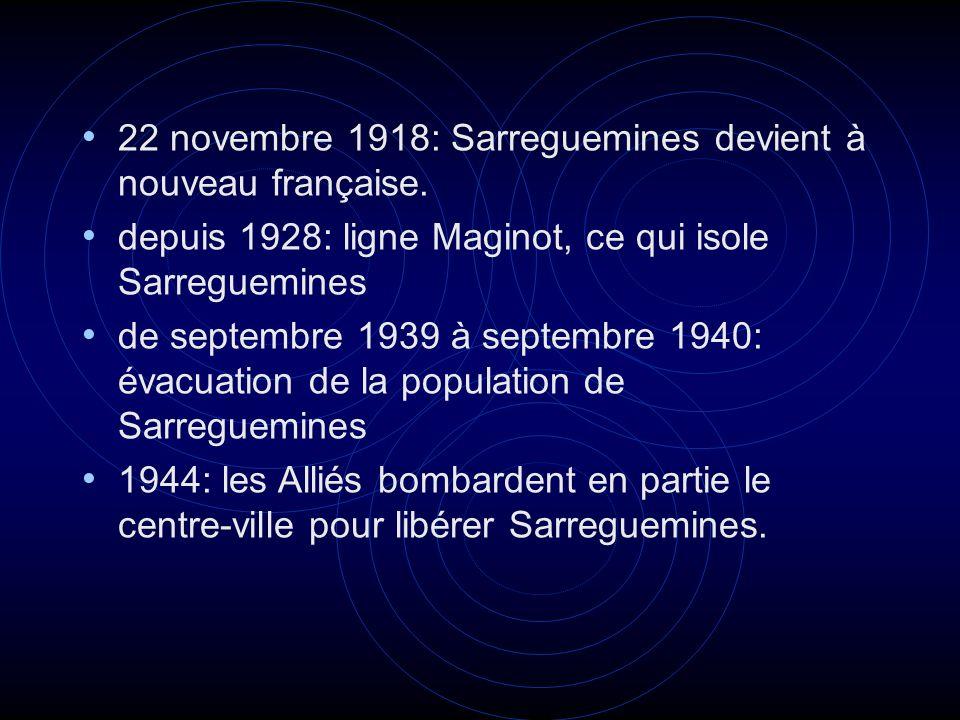 22 novembre 1918: Sarreguemines devient à nouveau française.