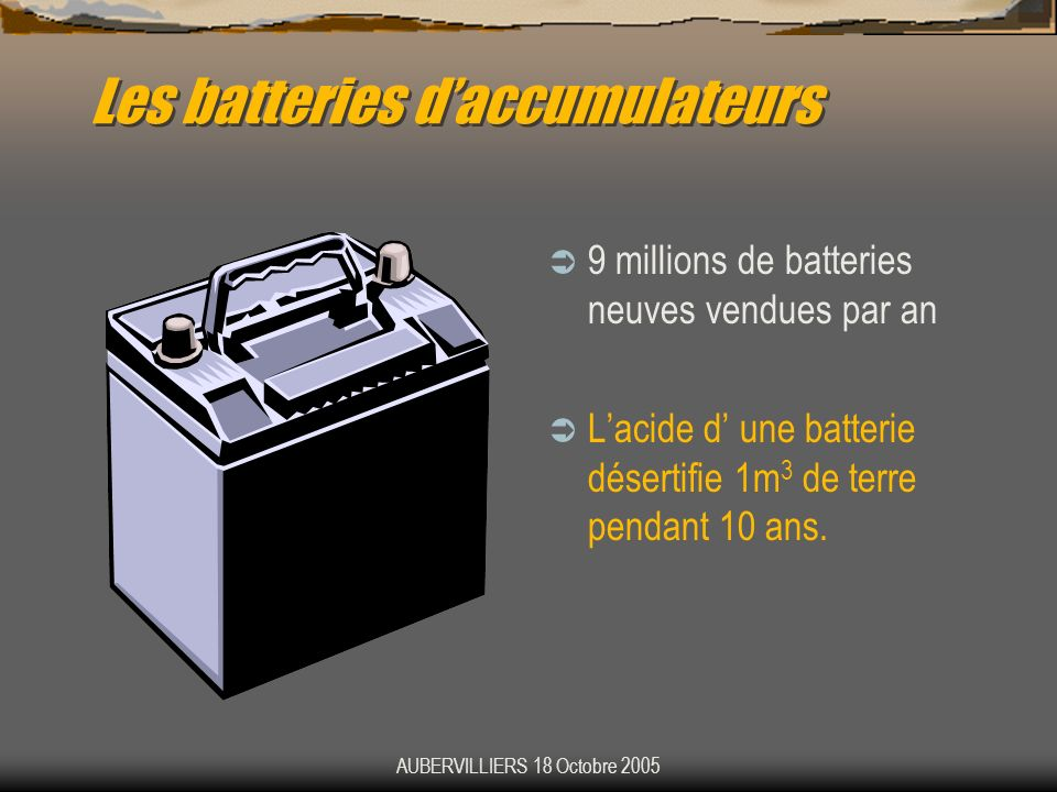 Les batteries d'accumulateurs